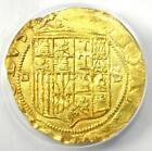 1535-55 Spain Carlos and Johanna Escudo Cob Gold Coin 1E -  ANACS MS62 (BU UNC)