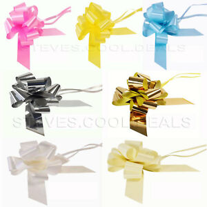 FLORIST-PULL-BOWS-50MM-LARGE-FAST-WEDDING-CAR-PARTY-RIBBON-GIFT-WRAP-PEW-ENDS