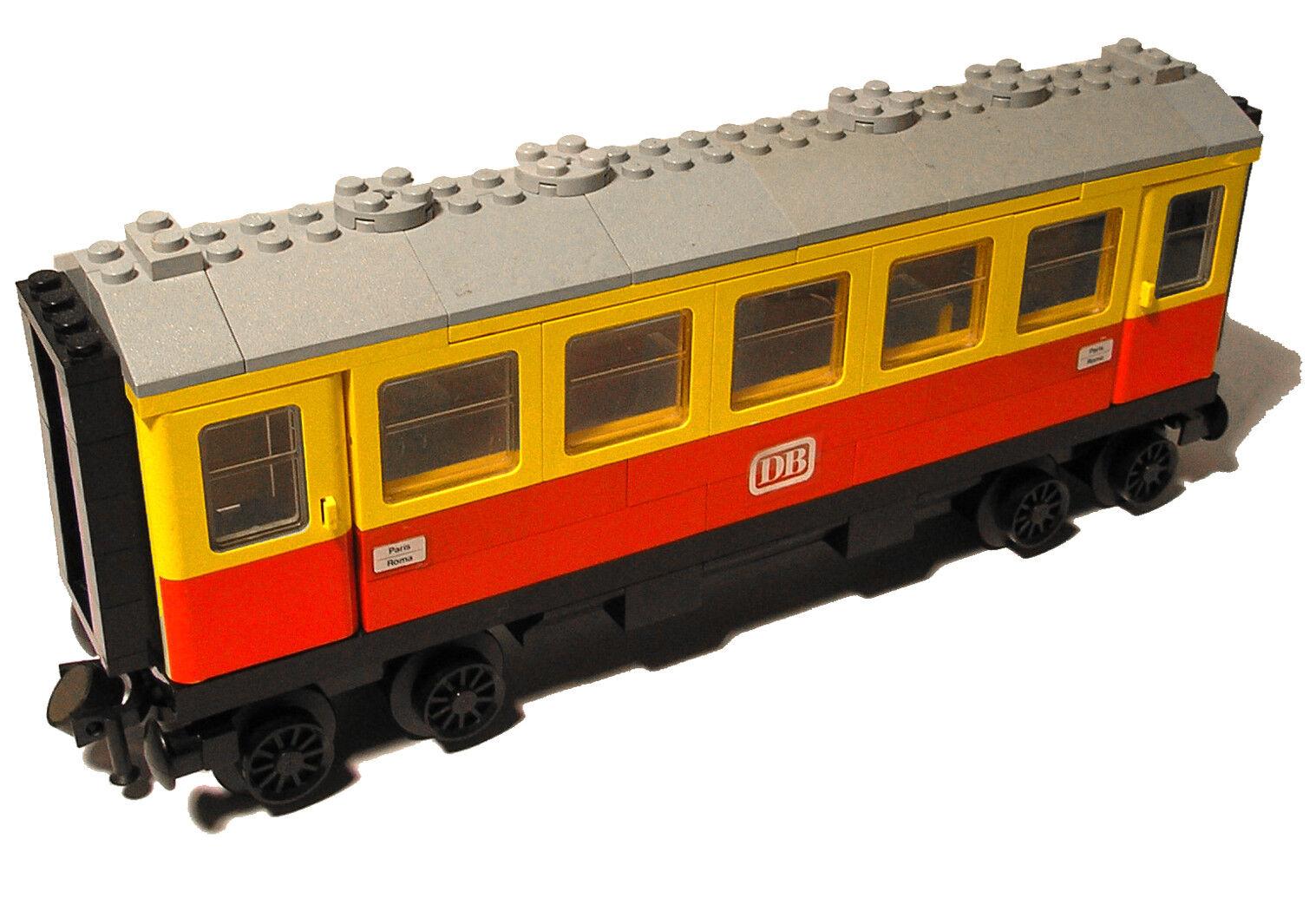 Lego® Eisenbahn 12V Personenwaggon aus 7740 Waggon Trains Türen Aufkleber TEE