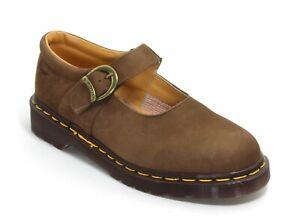 198 Chaussures à Lacets Femme Bottes en Cuir Dr.Martens Airwair Braun Basses 39