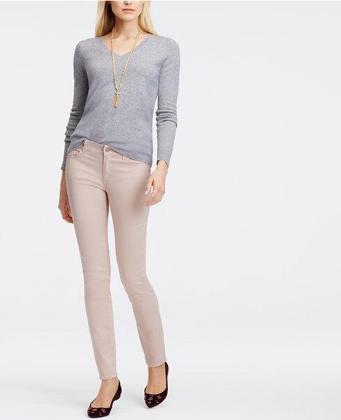 Ann Taylor - Taupe, Green, bluesh, White Modern Sateen Skinny Jeans  (D29)