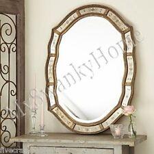 """Etched VENETIAN Antique Vanity Mirror NEIMAN MARCUS 35"""" Wall Victorian Romantic"""