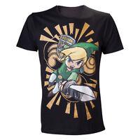 Official Nintendo Legend Of Zelda Link Wind Waker Black Short Sleeved Tshirt