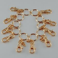 DIY Key Chain Key Holder Key Ring w/Hook  - 10 pcs (Gold )