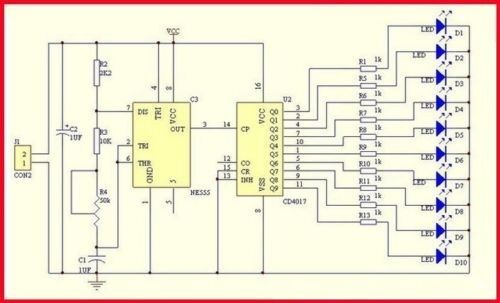 Wasser Fließendes Licht  LED  Modul - Fertigbaustein E931 3-14V