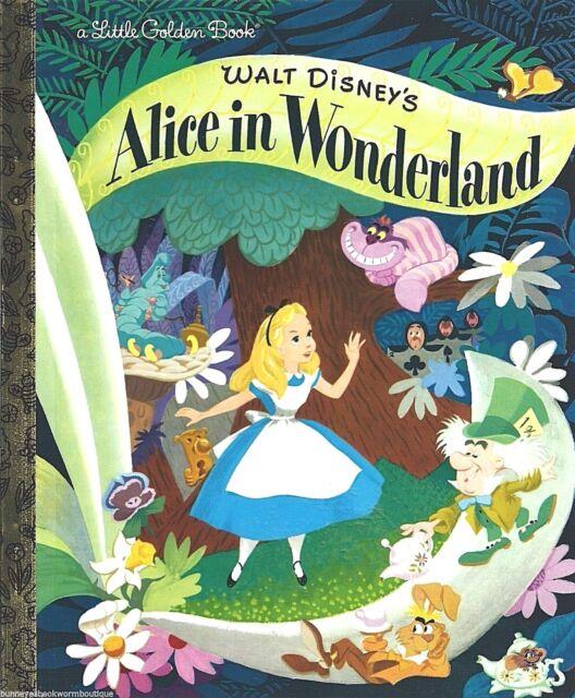 Alice in Wonderland LITTLE GOLDEN BOOK New DISNEY Classic CHESHIRE Vintage Art