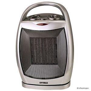 Optimus Portable Oscillating Ceramic Space Heater W