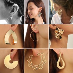 Gothic-Fashion-Women-039-s-Large-Circle-Geometry-Metal-Earring-Ear-Stud-Earrings-HOT