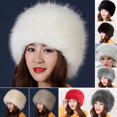 Women Lady Russian Tick Fluffy Fox Fur Hat Headband Winter Earwarmer Ski Faux