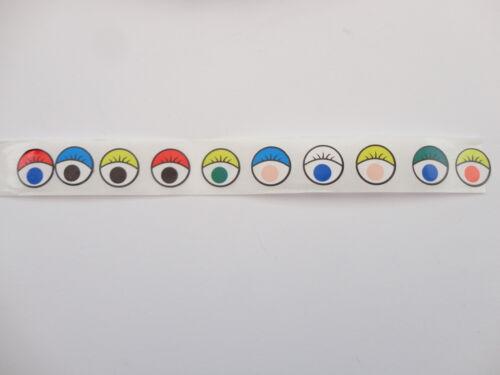 12MM PEEL /& STICK CRAFT CARD MAKING COLOURED EYES SELF ADHESIVE EYE STICKERS