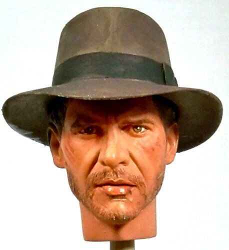 1:6 Custom Head Harrison Ford as Indiana Jones Temple of Doom - Battle Damaged