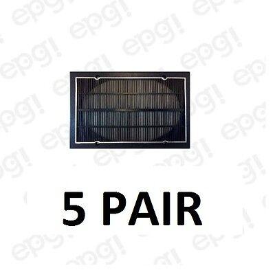 "5/"" X 7/""  SPEAKER GRILLS FLAT PLASTIC RECTANGULAR FIVE PAIR #ZASG57P-5PR"
