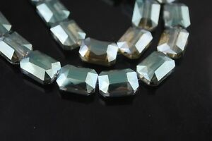 10pcs-18mm-Faceted-Crystal-Glass-Charm-Majhong-Finding-Spacer-Beads-Yellow-amp-Green