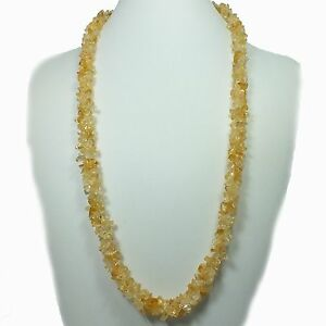 Citrine-Chip-Bead-Rope-Style-Necklace-EA2103M-crystal-stone-gem-healing-reiki