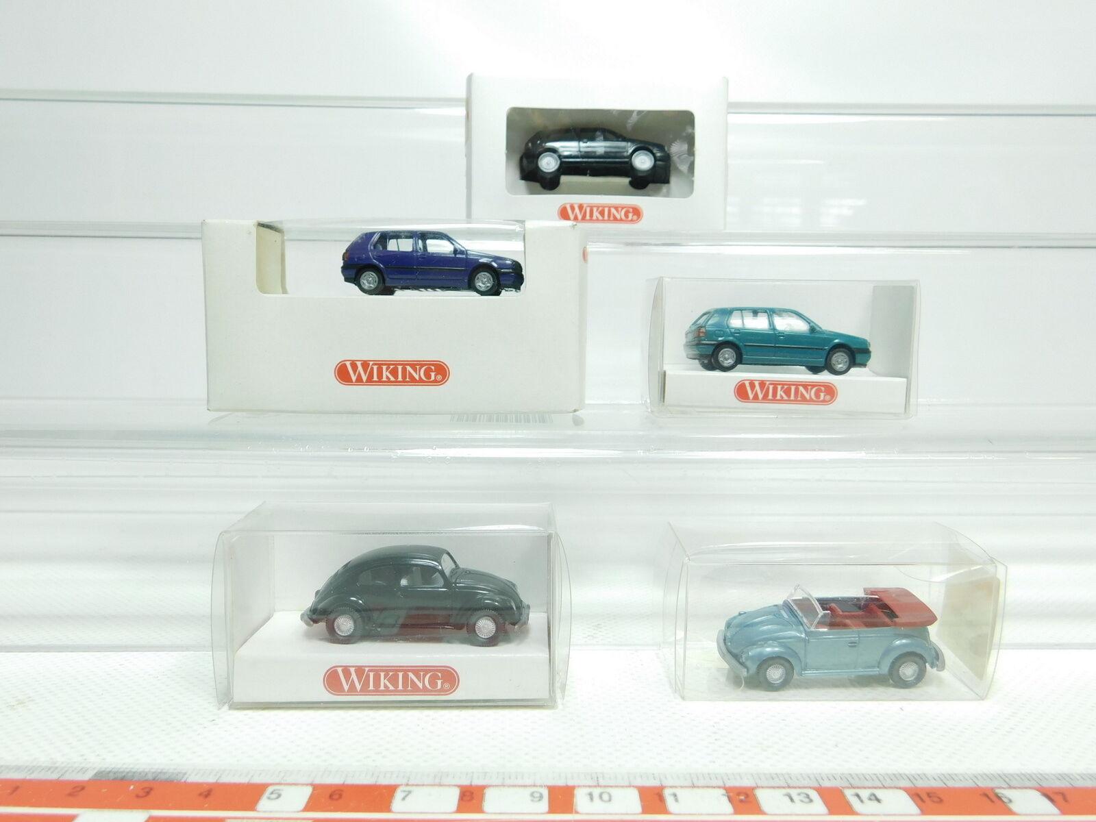 Bk15-0, 5  5x WIKING h0 1 87 Voiture Volkswagen  033  830  052  051, Neuw  neuf dans sa boîte