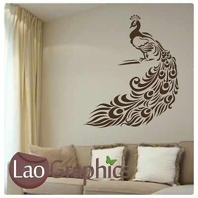 Peacocks and love quote vinyl wall art stickers decal transfer various Colours