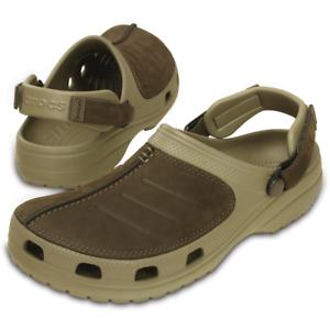 822249e573fe Mens Yukon Mesa Crocs Brown Khaki Clogs Beach Shoes Waterproof ...