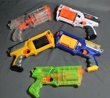 Lot of 5 - Rainbow Nerf N-Strike Maverick Rev-6 Dart Guns - Free Shipping