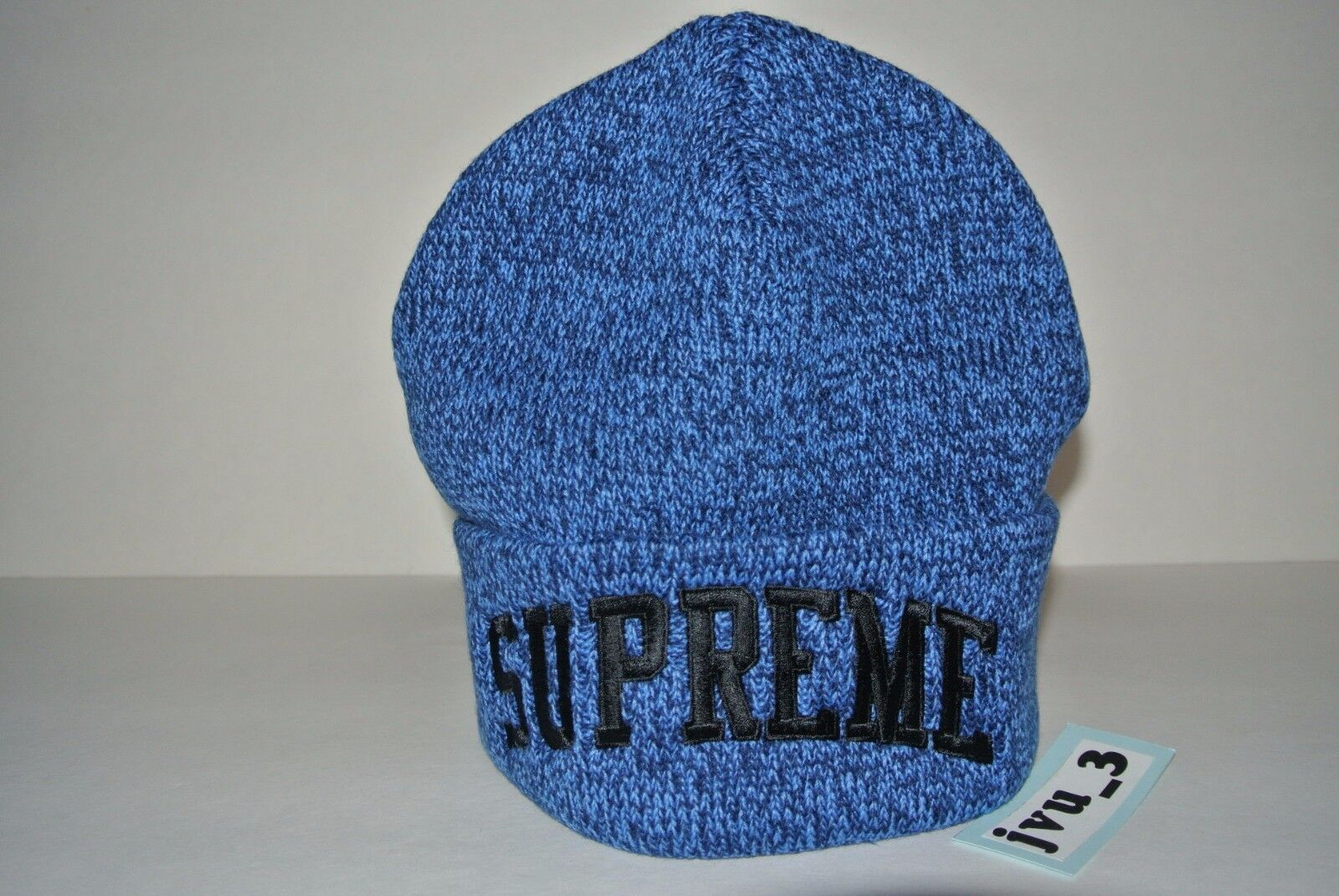0e85095d78611 Supreme Men s One Size Mixed Yarn Beanie in Melange Royal Fw16bn21 for sale  online