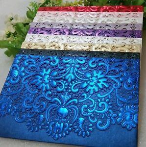Laser-Cut-Wedding-Invitations-Card-Pocket-amp-Envelope-1-10-30-50-Embossed-Stamped