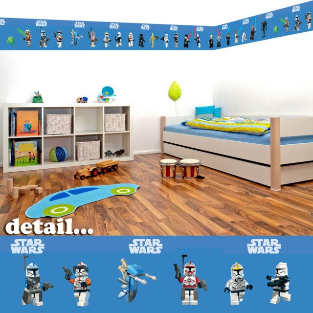lego star wars self adhesive decorative wall border - 5 metres in