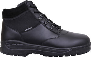 Image is loading Black-Forced-Entry-Waterproof-Tactical-Mid-Top-Military- 503088759fa