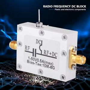 Radio Frequency RF Blocking Filter Coaxial Feed Bias Tee 10MHz-6GHz Low Loss New