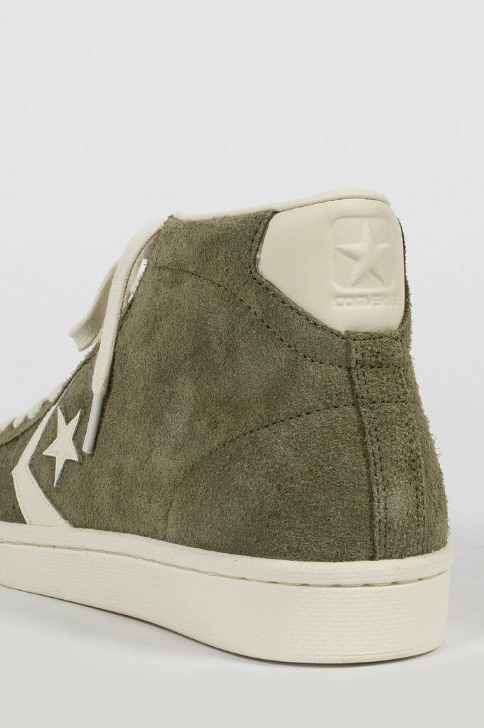 NIB Converse Pro Leather Mid Suede Medium 10 Olive/Egret 157690C US Mens 10 Medium 2be02f