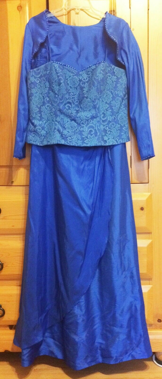 Mother of Bride Formal Gown w/ Jacket, Evening Wear, Party, Royal Blue 12, 10
