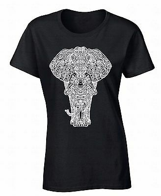 Elephant WOMEN T-SHIRT Animal Lover Cool Wild Africa Safari Funny Ladies Shirt
