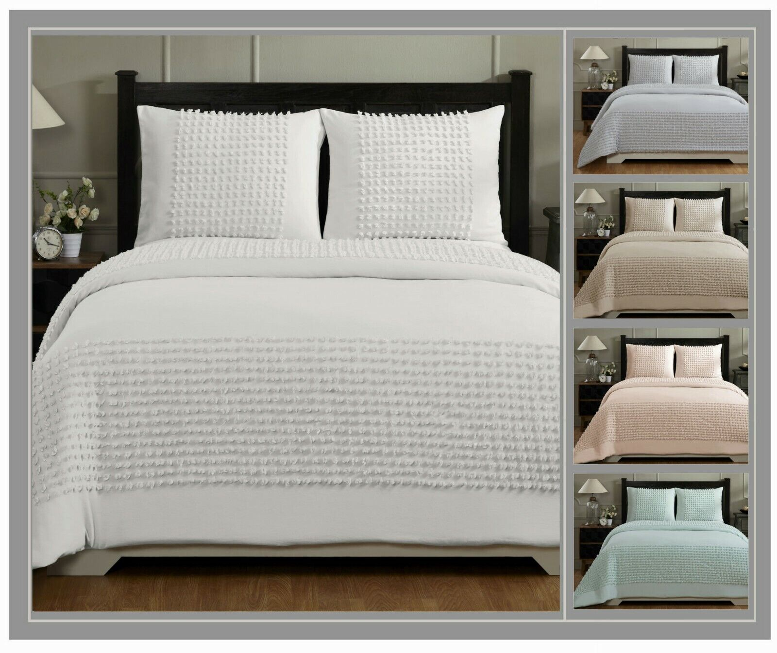 Better Trends Olivia Collection 100% Cotton Chenille Comforter Set
