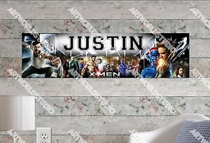 Personalized//Customized X-MEN Name Poster Wall Art Decoration Banner