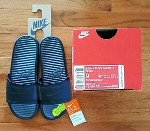 05839b0595a4 New Nike Benassi Solarsoft Slide Sandals Flip Flops Beach Pool Shoes ...