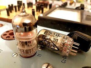 6n2p-6-2-Reflektor-Gold-Grid-Matched-Pair-HIFI-ROHREN-ecc83-12ax7-1970-1980s