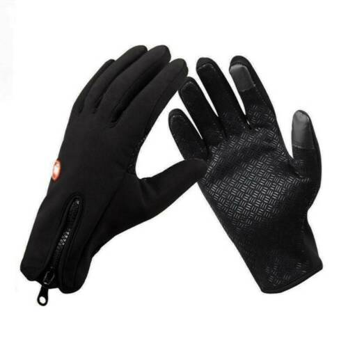 Men/'s Black Winter Warm Gloves Windproof Waterproof Thermal Touch Screen Mittens
