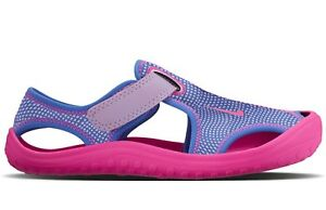 1623d84e16f3 Nike Girls Sunray Protect PS Sandals 903633-500 Pink UK 2.5 EU 35 ...