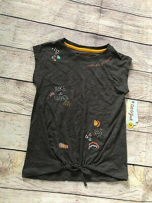 Girls/' All Right Baseball 3//4 Sleeve T-Shirt Orange Cat /& Jack SMALL XL XS #t9