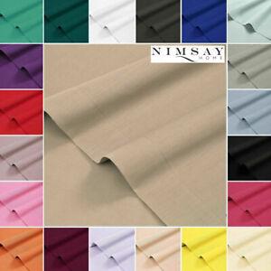 Nimsay-Home-Uni-Plat-HAUT-DRAP-Draps-Simple-Double-Super-King