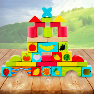 Wooden-Puzzle-Toddler-Kids-Toy-Shape-Sorter-Preschool-Creative-Stacking-Game-US