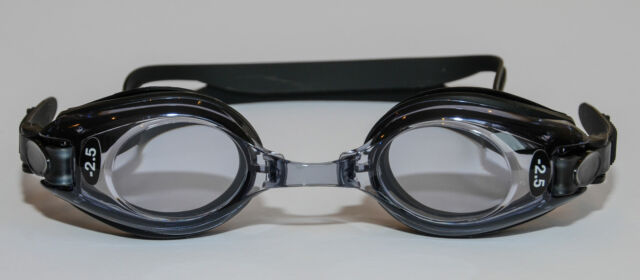 Children's Prescription Swimming Goggles Black Minus & Plus Powers for Kids UV