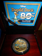 DONALD DUCK 80th Anniversary Disney 1/4 Oz Gold Proof Coin 25$ Niue 2014 RARE