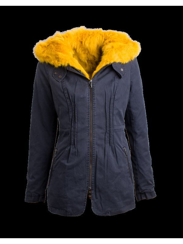 Witty Knitters Sarah Contrast Navy Fellparka in Gr. L = 38    NP  599,- Euro