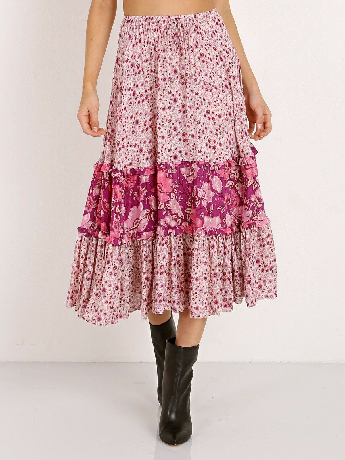 Spell And The Gypsy Collective Winona Midi Skirt Berry