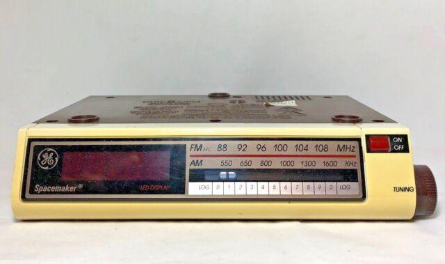 Vintage Ge Spacemaker Digital Clock Radio For Under Cabinet