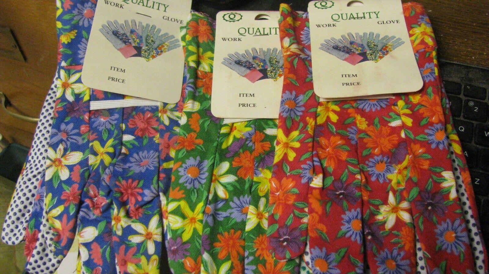 womens garden gloves, 3 pair, new, free shipping 2