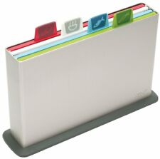 Joseph Index Nonslip Large Chopping Board Set Silver Color