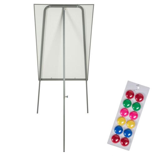 Flipchart Moderationstafel Moderationswand Magnettafel Whiteboard 12 Magnete