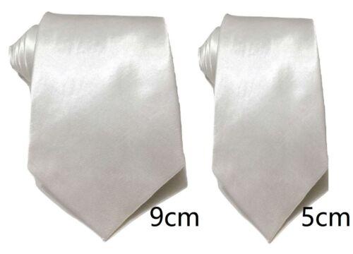 Hombre Satén Liso Sedoso Corbata Delgada Estándar Clásico Ancho Boda Negocios