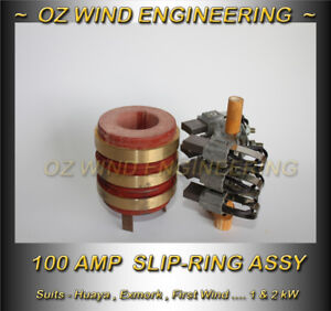 Slip-Ring-Assy-1kW-2-5kW-Wind-Turbine-Generator-100A-Dual-Brush