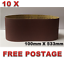 10pcs 100mm X 533mm Sanding Belts 40 120 Grit or Mixed Heavy Duty Cloth Backed